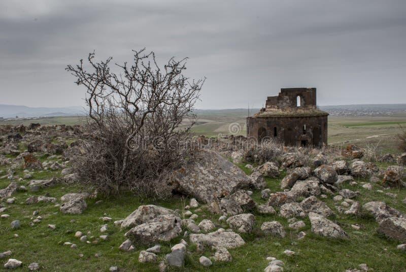 Gharghavank Zoravor教会 库存图片