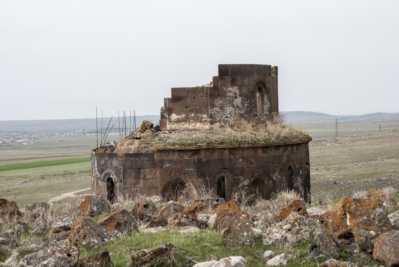 Gharghavank Zoravor教会 库存照片