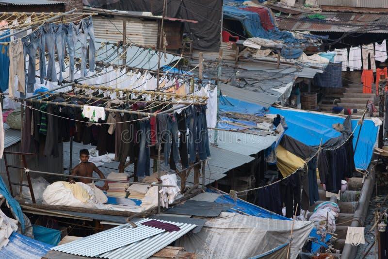 Ghat de dhobi de Mumbai images stock