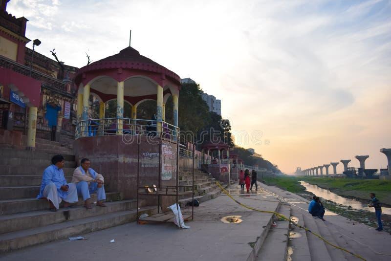 Ghat de Ganga imagens de stock
