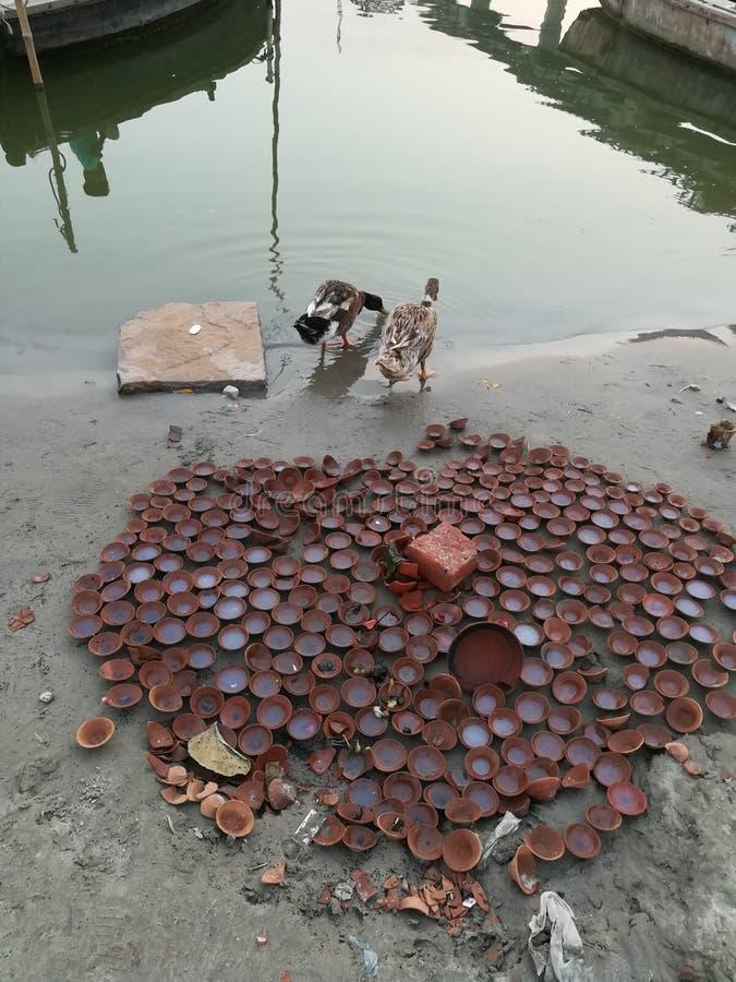 Ghat de Ganges fotografia de stock