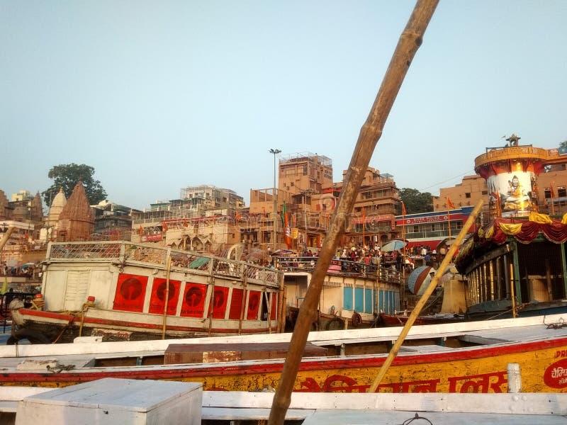 Ghat de Varanasi Ganga imagem de stock royalty free