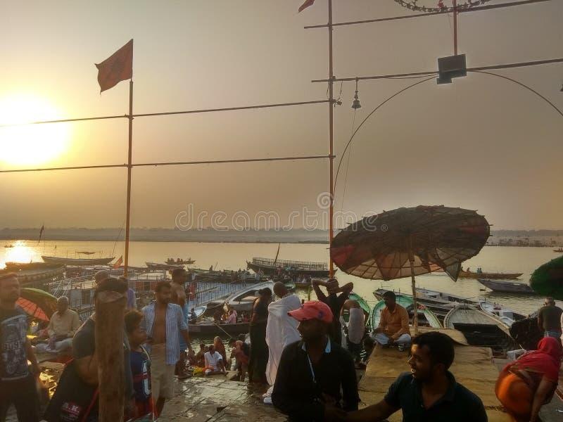 Ghat de Varanasi Ganga fotos de stock