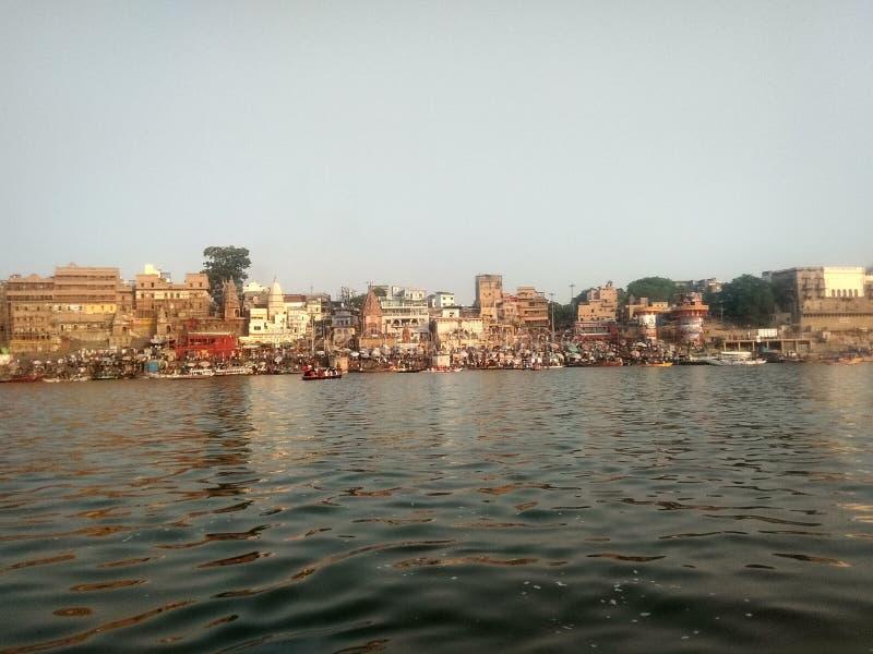 Ghat de Varanasi Ganga foto de stock