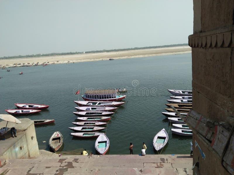 Ghat de Varansi imagens de stock
