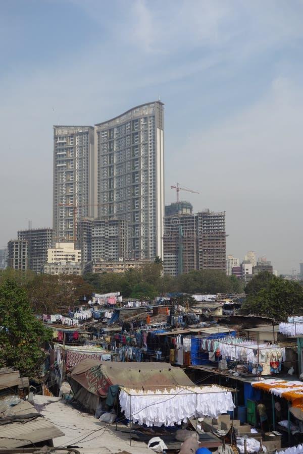 Ghat do dhobi de Mumbai imagem de stock