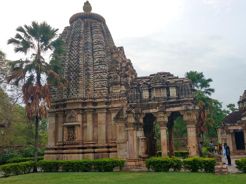 Temple (They are built in the Pratihara style of temple architecture dated to the tenth century A.D.) stock photography