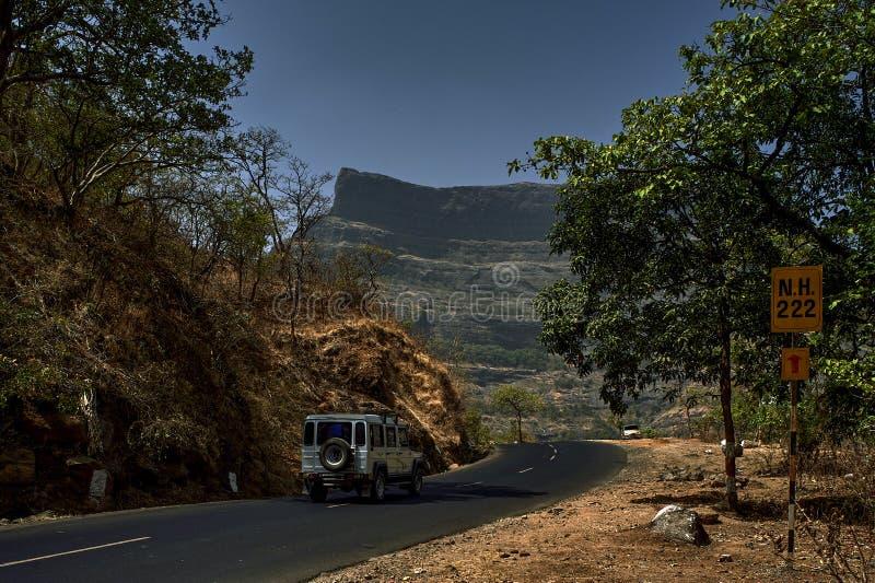 Ghatpass de Kalyan Nirmal Highway NH 222Malshej sur Ghats occidental également connu sous le nom de maharashtra bienveillant de m image libre de droits