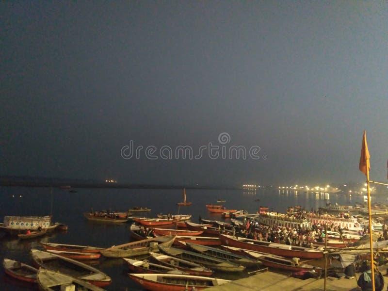 ghats varanasi стоковая фотография rf