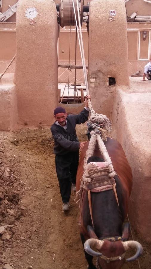Ghav chah,伊朗, esfahan, varzane 库存图片