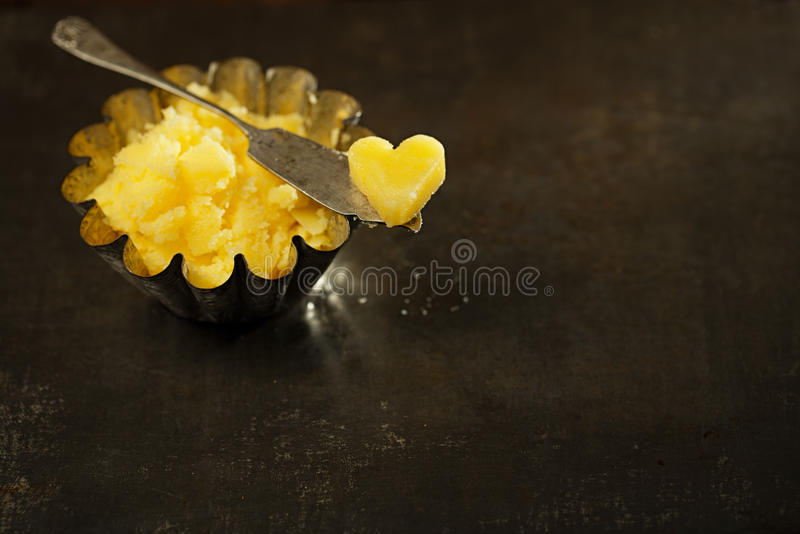 Ghee or melted butter royalty free stock images