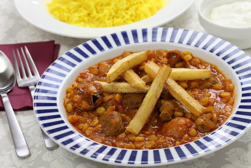 Gheimeh de Khoresh, culinária iraniana fotos de stock royalty free