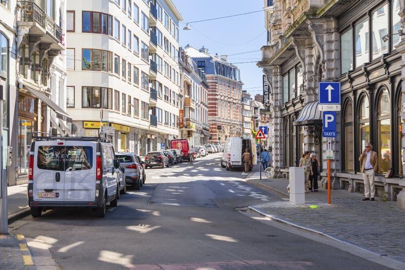 Ghent Belgia - Jeden środkowe ulicy miasto zdjęcia stock