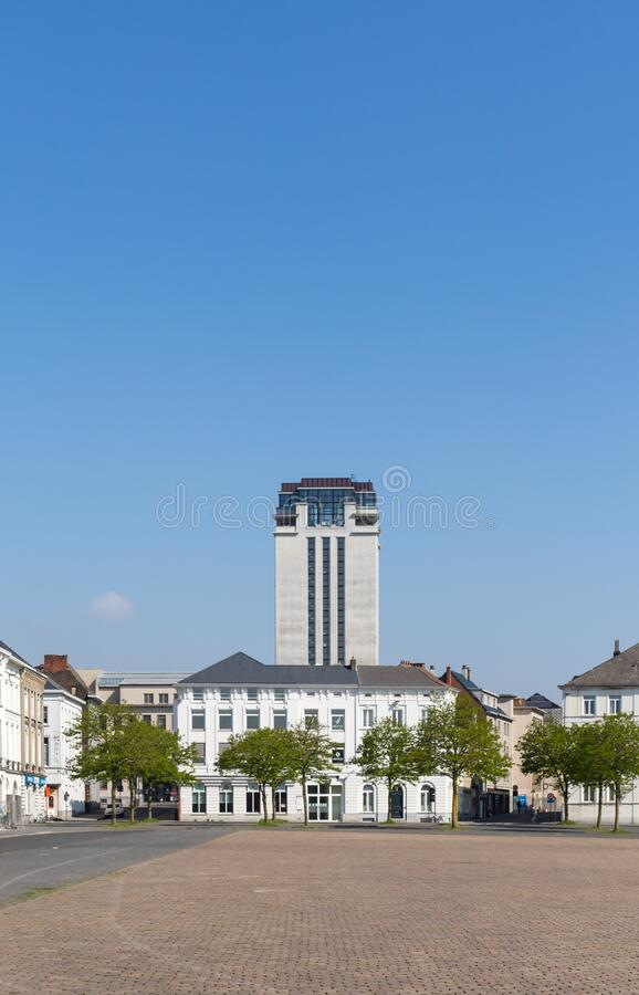 Ghent, Belgium - April 26, 2020: The Book Tower, a modernist masterpiece by the Belgian architect Henry van de Velde. royalty free stock images