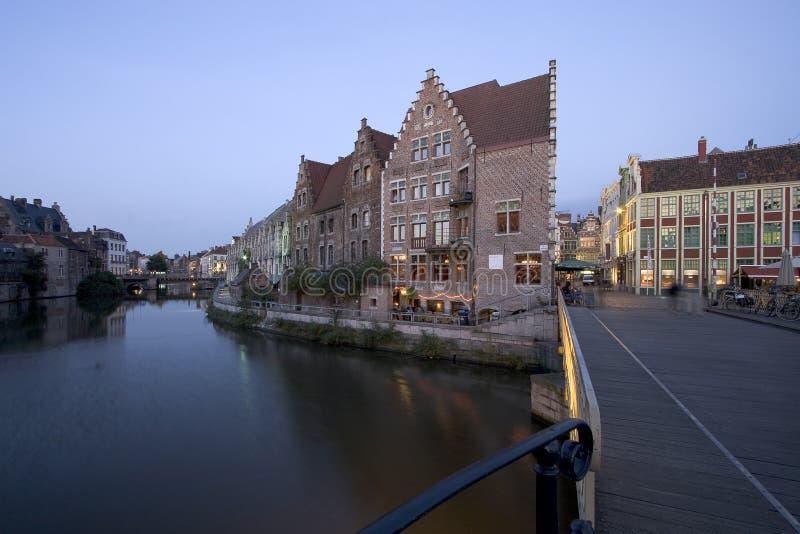 Download Ghent Canals stock image. Image of dusk, ghent, city, bridge - 353571