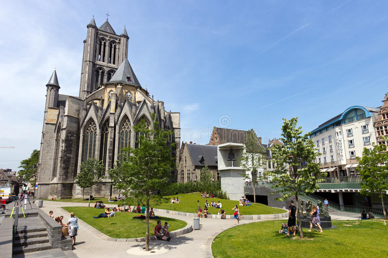 Ghent Cathedral stock image
