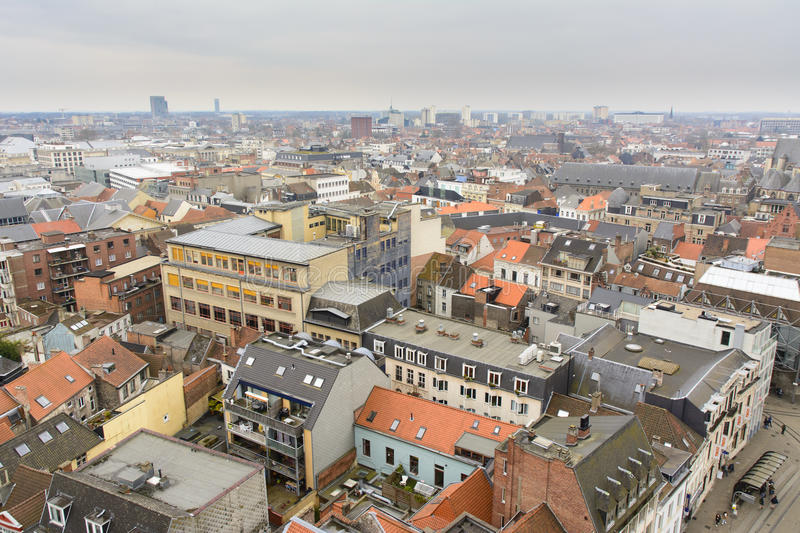 Ghent rooftops. Viewed from The Belfry royalty free stock images