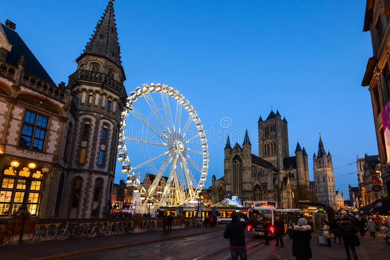Ghent Winter Festival royalty free stock photo