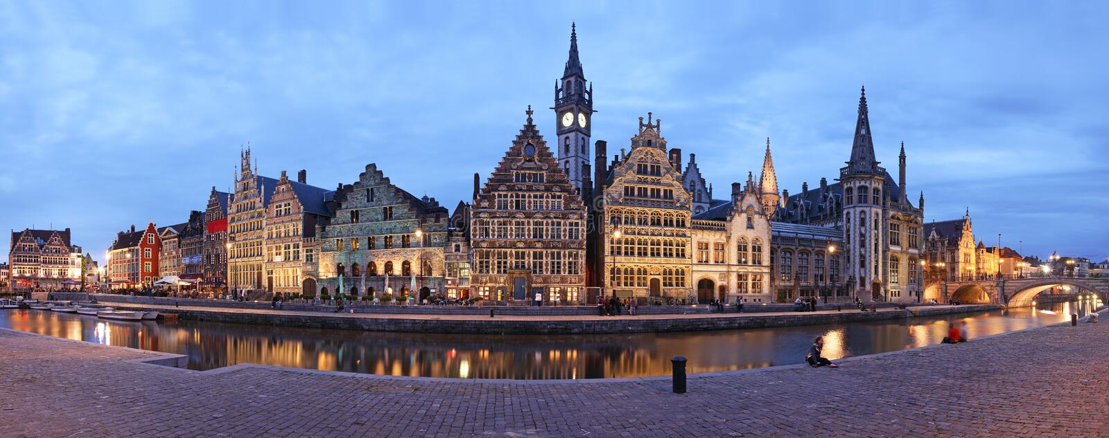 Ghent XXL Panorama stock images