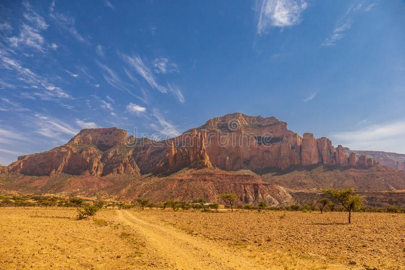 Gheralta mountains near Hawzen in Tigray Region/ Ethiopia royalty free stock photography