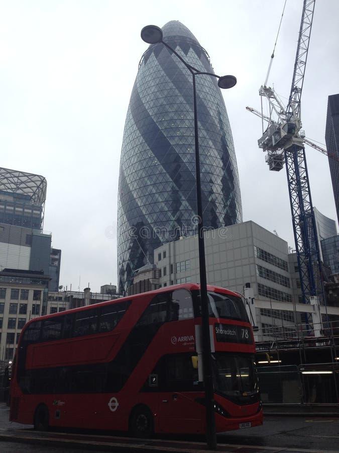 Gherkin of London stock image