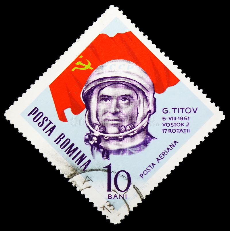 Gherman S. Titov, Astronauts and Cosmonauts serie, circa 1963 royalty free stock photography