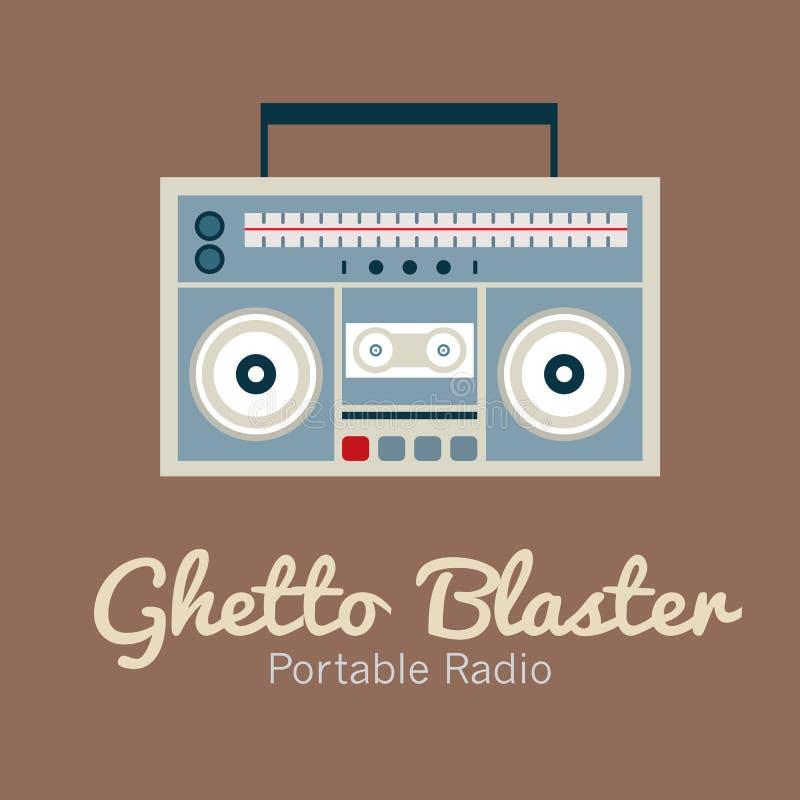 Ghetto Blaster Radio. Vector Illustration stock illustration