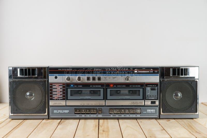 Ghettoblaster da plataforma de fita da cassete áudio do vintage fotos de stock
