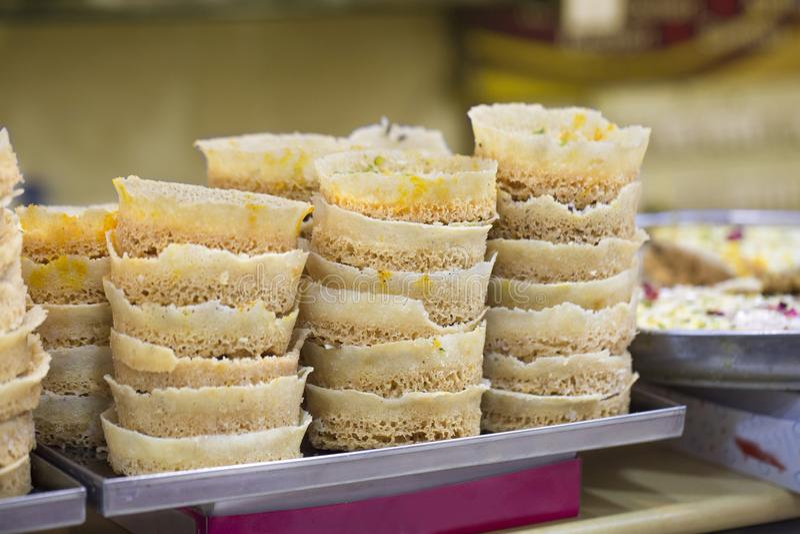 Ghewar Sweet food stock photo