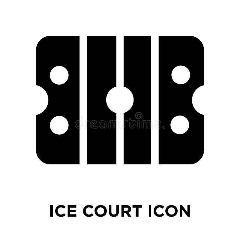 Ghiacci il vettore dell'icona della corte isolato su fondo bianco, concetto di logo royalty illustrazione gratis