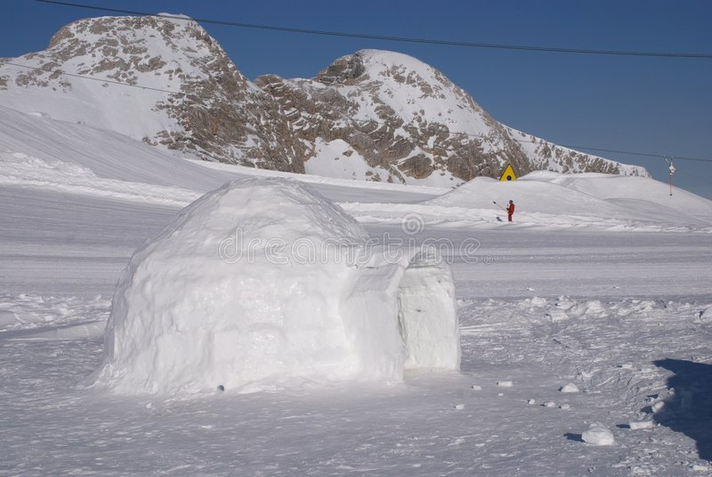 Ghiacci l'iglù del ghiaccio immagine stock