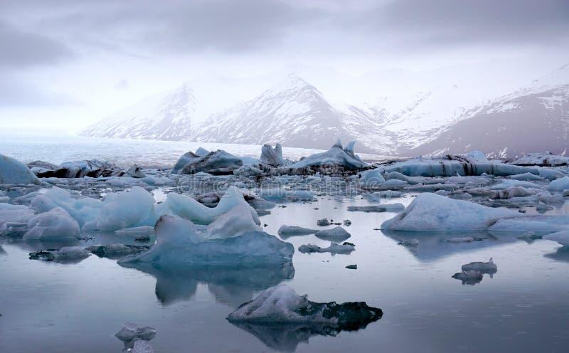 Ghiacciai del ghiaccio immagini stock