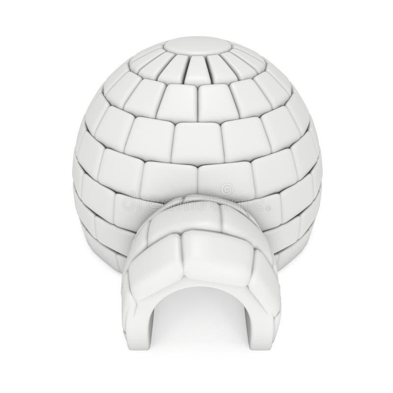 Ghiacciaia 3D dell'iglù illustrazione di stock