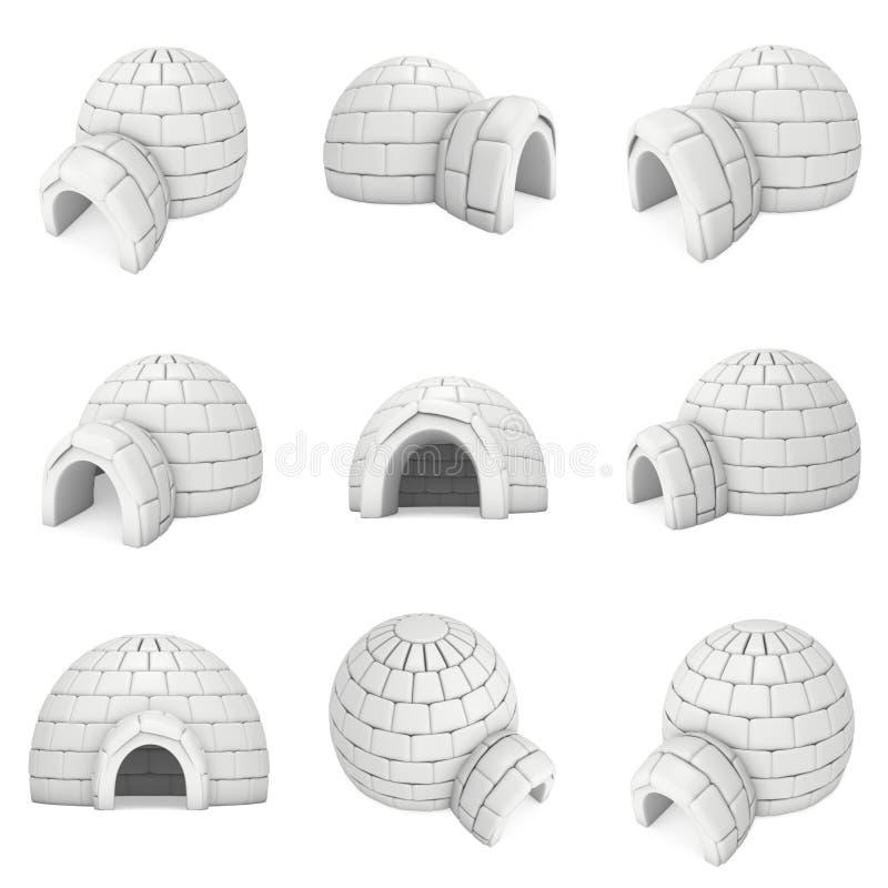 Ghiacciaia 3D dell'iglù illustrazione vettoriale