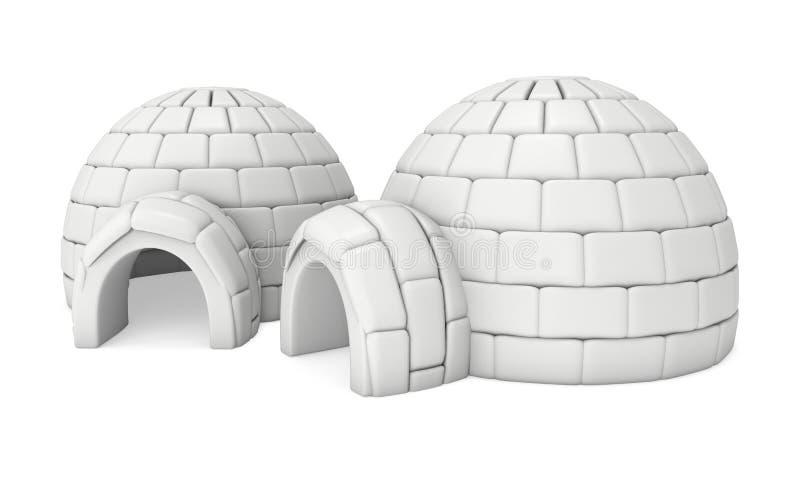 Ghiacciaia 3D dell'iglù royalty illustrazione gratis