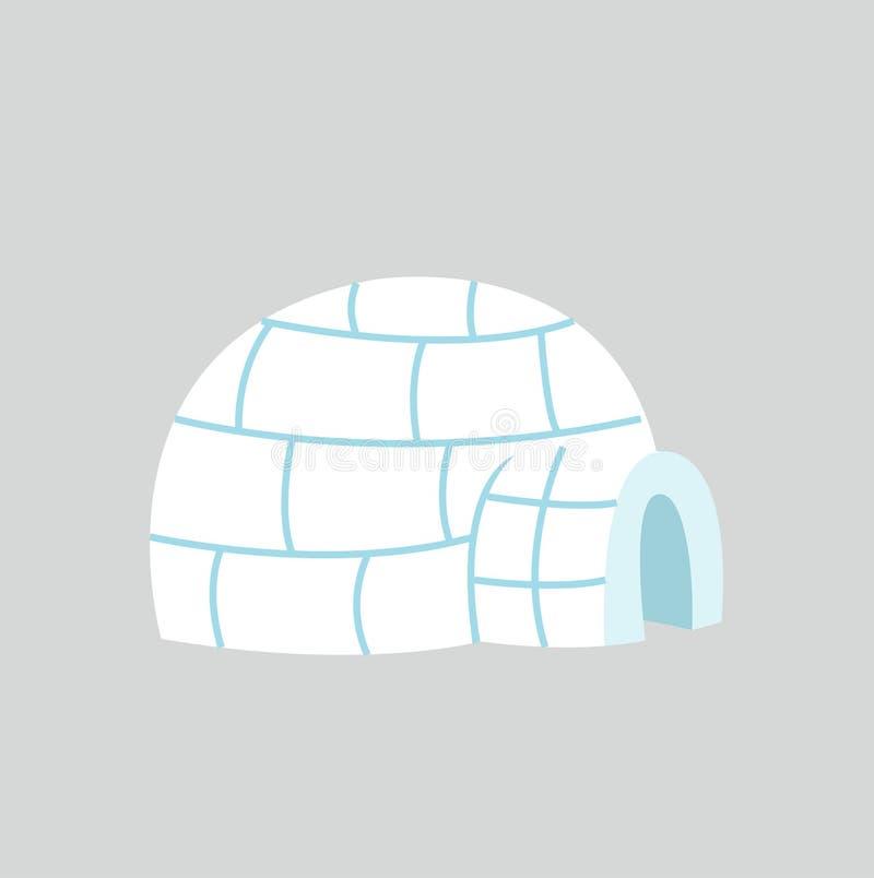 Ghiacciaia dell'iglù nella progettazione piana illustrazione di stock