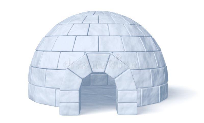 Ghiacciaia dell'iglù sulla vista frontale bianca royalty illustrazione gratis