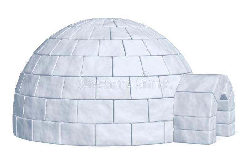 Ghiacciaia dell'iglù sulla vista laterale bianca illustrazione di stock