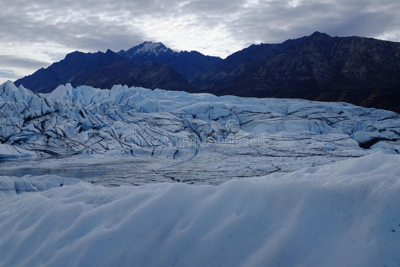 Ghiacciaio Alaska di Matanuska immagine stock libera da diritti