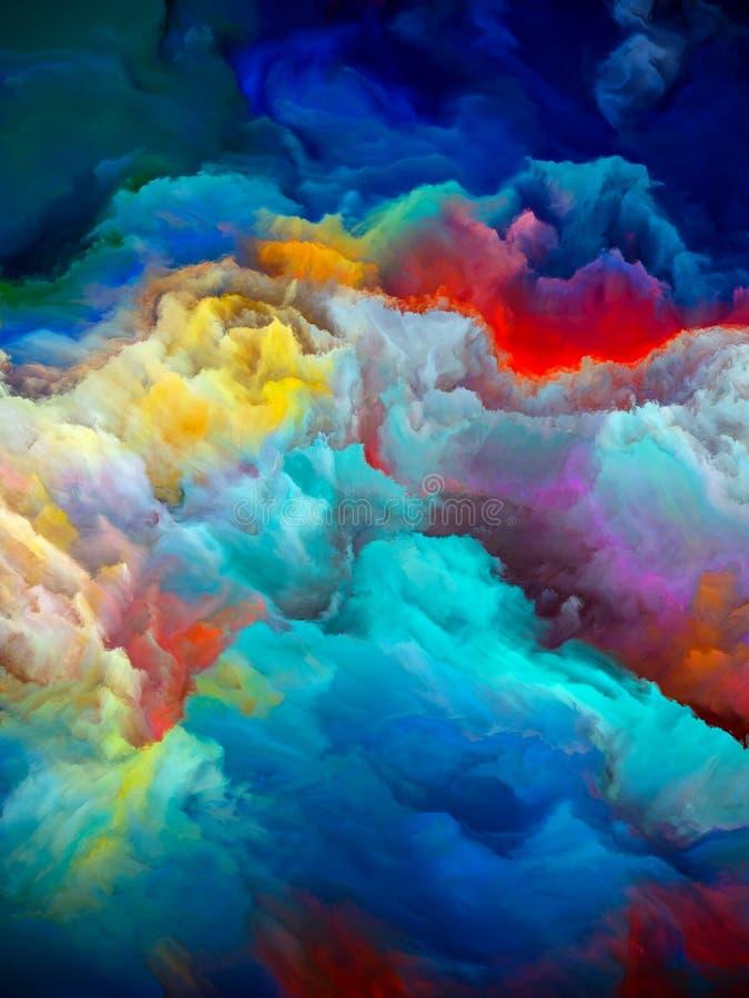 Ghiacciaio colorato immagini stock