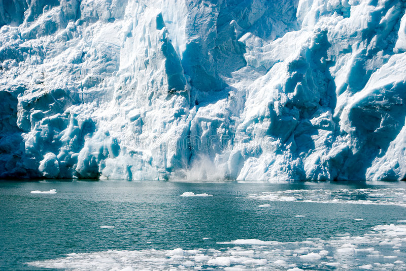 Ghiacciaio d'Alasca fotografia stock libera da diritti