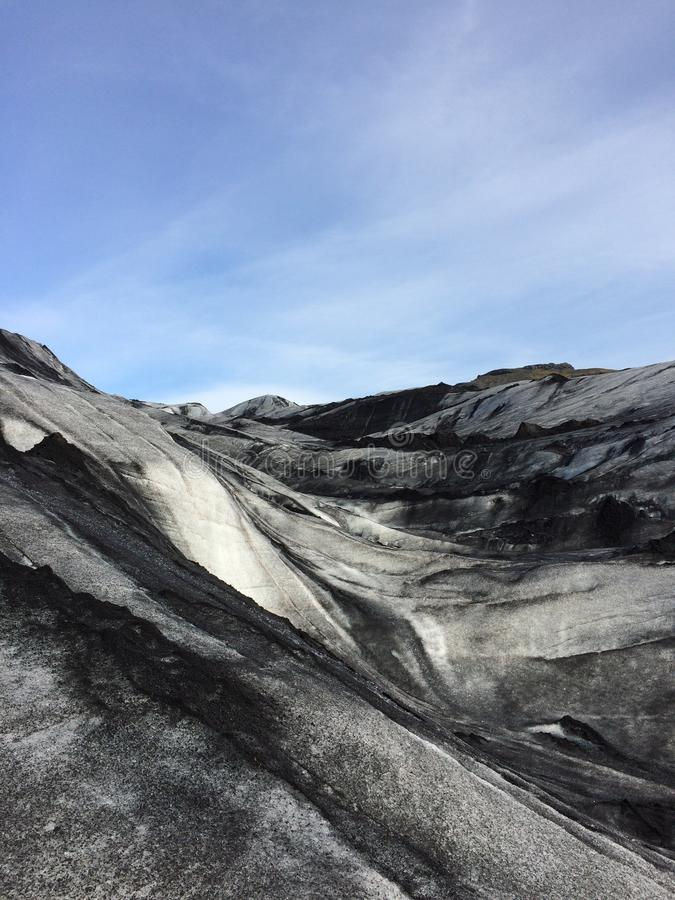 Ghiacciaio del ghiaccio in Islanda fotografie stock