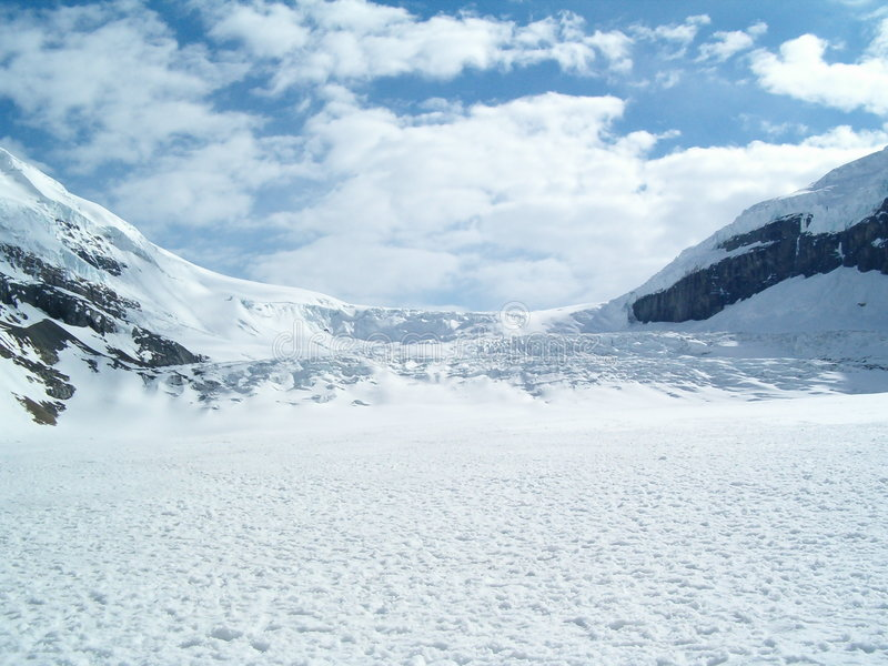 Ghiacciaio di Athabasca immagini stock libere da diritti