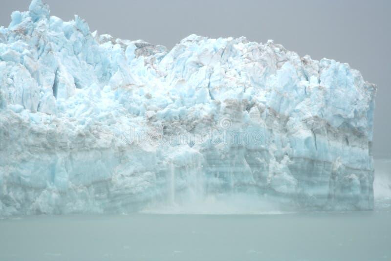 Ghiacciaio di Hubbard, Alaska fotografia stock