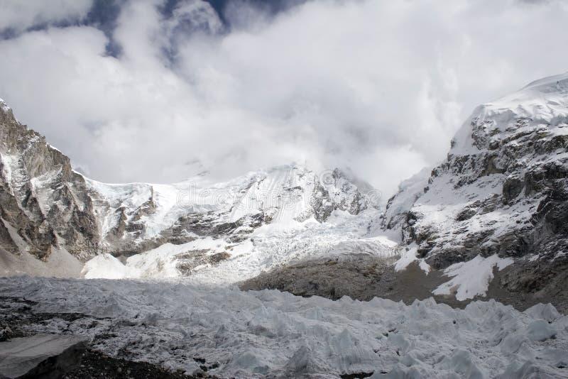 Ghiacciaio di Khumbu fotografia stock libera da diritti