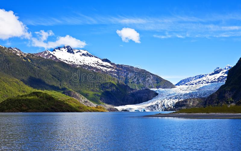 Ghiacciaio di Mendenhall, Alaska fotografia stock libera da diritti