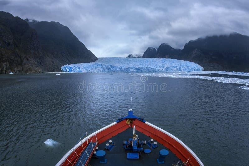 Ghiacciaio di San Refael - Patagonia - il Cile immagine stock libera da diritti