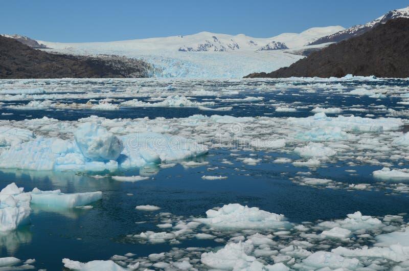 Ghiacciaio di Steffen nel giacimento di ghiaccio patagonian del sud di Campo de Hielo Sur, Patagonia cilena immagine stock