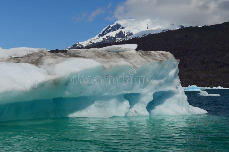 Ghiacciaio di Steffen nel giacimento di ghiaccio patagonian del sud di Campo de Hielo Sur, Patagonia cilena fotografie stock libere da diritti