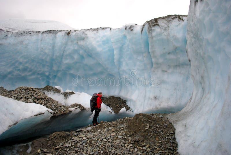 Ghiacciaio nell'Alaska immagine stock